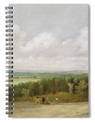 Landscape - Ploughing Scene In Suffolk Spiral Notebook
