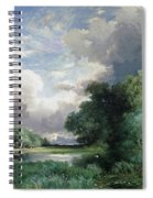 Landscape With A Bridge Spiral Notebook