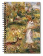 Landscape With A Woman In Blue Spiral Notebook