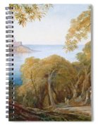 Landscape With View Of Lerici Spiral Notebook