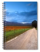 Lane Across Valley Spiral Notebook