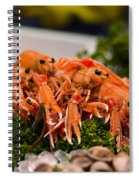 Langoustines At The Market Spiral Notebook