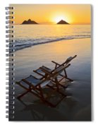 Lanikai Chairs At Sunrise Spiral Notebook