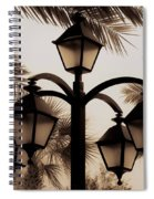 Lanterns And Fronds Spiral Notebook