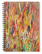 Large Acrylic Color Study 2012 Spiral Notebook