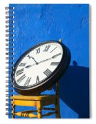 Large Clock On Yellow Chair Spiral Notebook