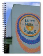 Larrys Music Boutique  Est 1952 Spiral Notebook