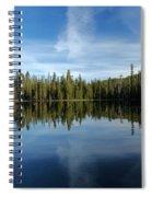 Lassen Summit Lake Reflections Spiral Notebook