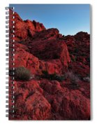 Last Light In Valley Of Fire Spiral Notebook