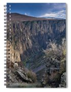 Late Afternoon At Black Canyon Of The Gunnison Spiral Notebook