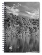 Late Afternoon At The Lake - Bw Spiral Notebook