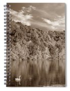 Late Afternoon At The Lake - S Spiral Notebook