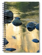 Late Afternoon Reflections In Merced River In Yosemite Valley Spiral Notebook