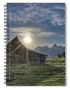 Late Evening At Moulton Barn Spiral Notebook