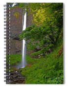 Latourell Falls Oregon - Posterized Spiral Notebook