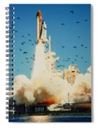 Launch Of Space Shuttle Challenger 51-l Spiral Notebook