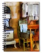 Laundry Drying In Kitchen Spiral Notebook