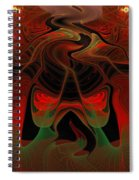 Red Hot Lava Spiral Notebook