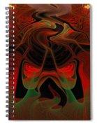 Red Hot Lava Spiral Notebook