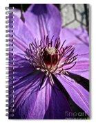Lavender Clematis Spiral Notebook