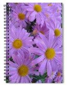 Lavender Mum Bouquets Spiral Notebook