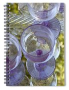 Lavender Wine Glasses Spiral Notebook