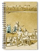 Lavoisier Experimenting Spiral Notebook