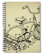 Lawnmower Tricycle Patent Spiral Notebook
