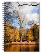 Lazienki Park Autumn Scenery Spiral Notebook