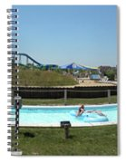 Lazy River Panorama At A Water Park Spiral Notebook