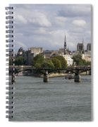 Le Pont Des Arts. Paris. France Spiral Notebook