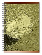 Leaf Mytallique Spiral Notebook