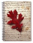 Leaf On Letter Spiral Notebook
