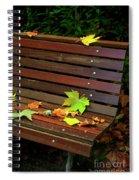 Leafs In Bench Spiral Notebook