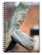 Leaning Cross At Cemetery Spiral Notebook
