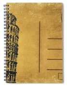Leaning Tower Of Pisa Postcard Spiral Notebook