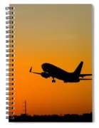 Leaving On A Jet Plane Spiral Notebook