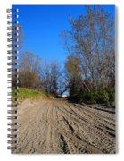 Leaving The Beach Vert Spiral Notebook