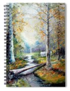 Leaving The Woodland Creek  Spiral Notebook
