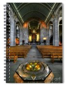 Leeds Cathedral Baptismal Font And Nave Spiral Notebook