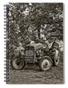 Left Fielder Sepia Spiral Notebook