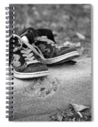Left On The Curb Bw Spiral Notebook