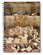 Left Over Brick In Antique Brick Kiln Spiral Notebook