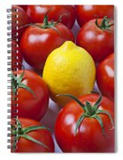 Lemon And Tomatoes Spiral Notebook