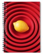 Lemon In Red Bowls Spiral Notebook