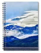 Lenticular And The Chugach Mountains Spiral Notebook