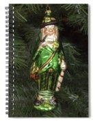 Leprechaun Christmas Ornament Spiral Notebook