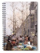 Les Halles And St. Eustache Spiral Notebook