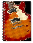 Classic Guitar Abstract Spiral Notebook