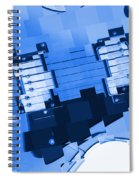 Abstract Guitar In Blue 2 Spiral Notebook